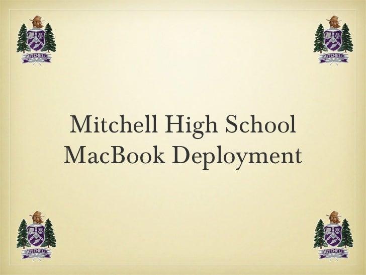 Mitchell High School MacBook Deployment