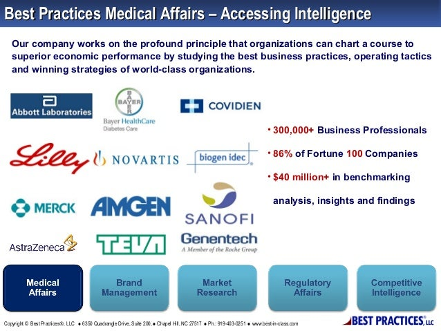 Best Practices Medical Affairs – Accessing Intelligence Our company works on the profound principle that organizations can...