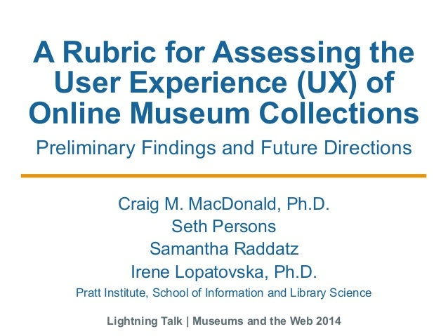A Rubric for Assessing the UX of Online Museum Collections: Preliminary Findings and Future Directions