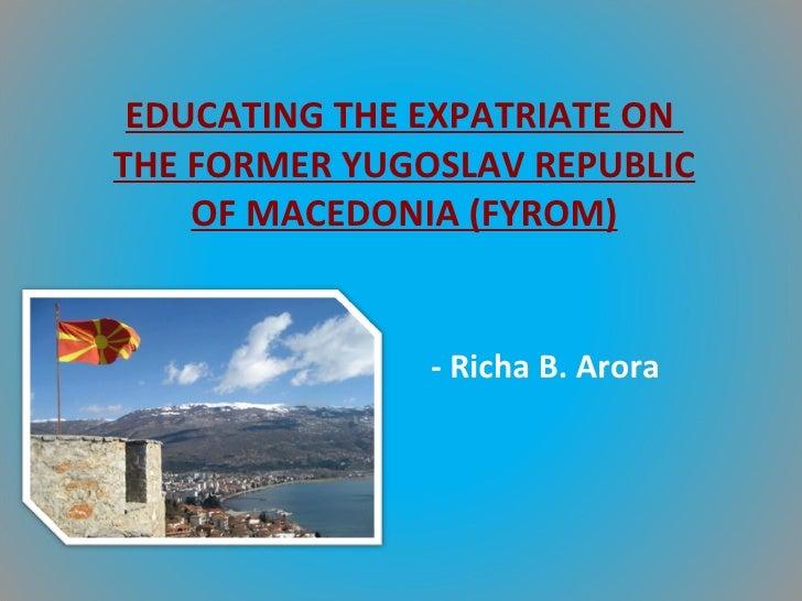 Macedonia project