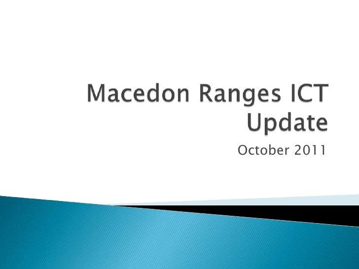 Macedon ranges ict update