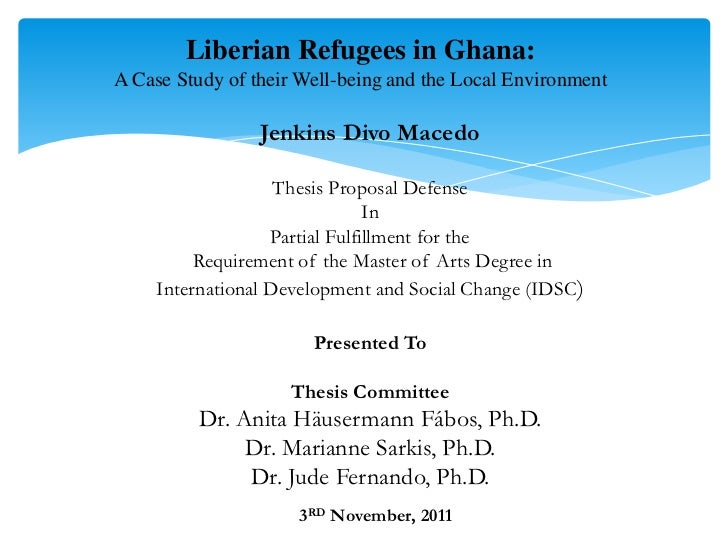 Dissertation Proposal Defence