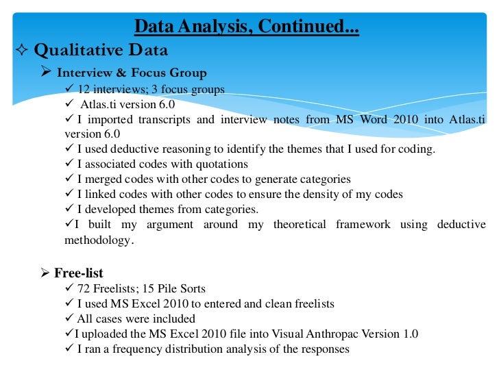 Qualitative data analysis dissertation