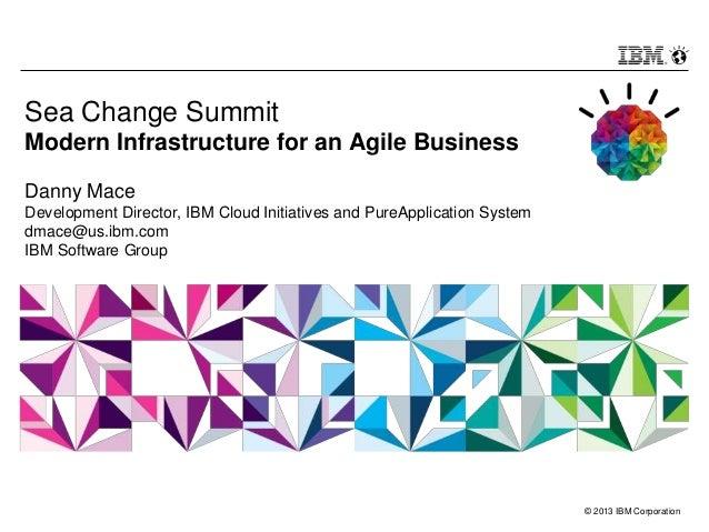 © 2013 IBM Corporation Sea Change Summit Modern Infrastructure for an Agile Business Danny Mace Development Director, IBM ...