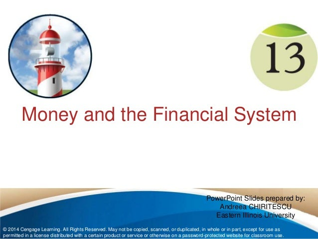 Money System in uk Money And The Financial System