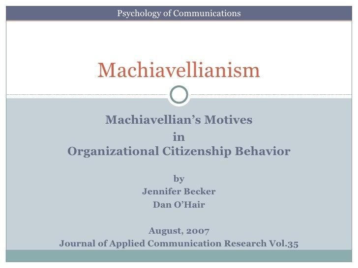 Organizational Psychology tops communications