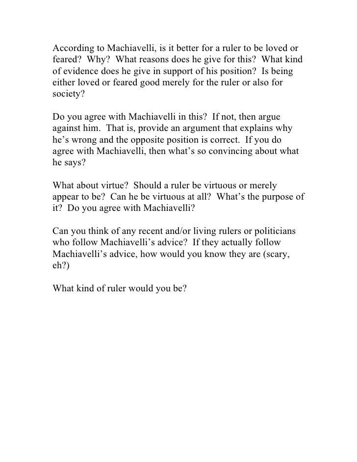 Machiavelli Questions