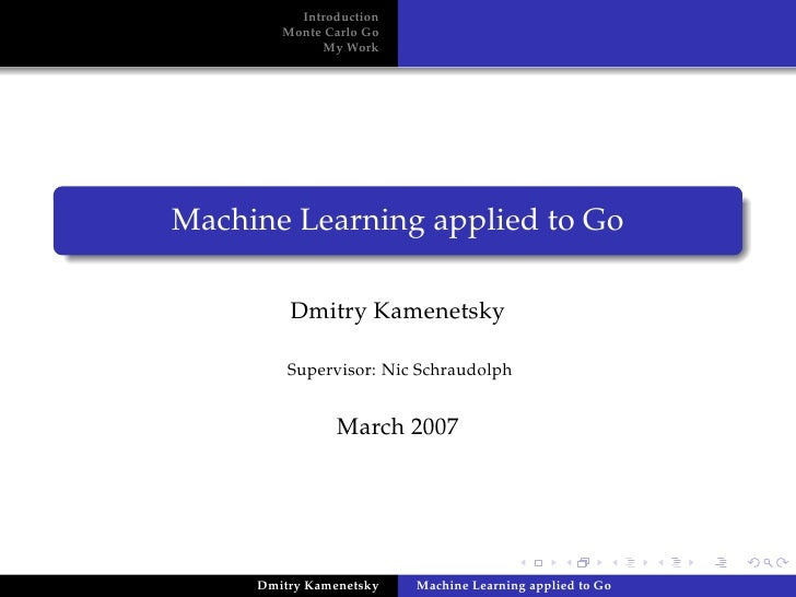Machine Learning applied to Go