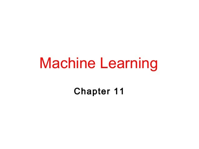 Machine Learning Chapter 11 2