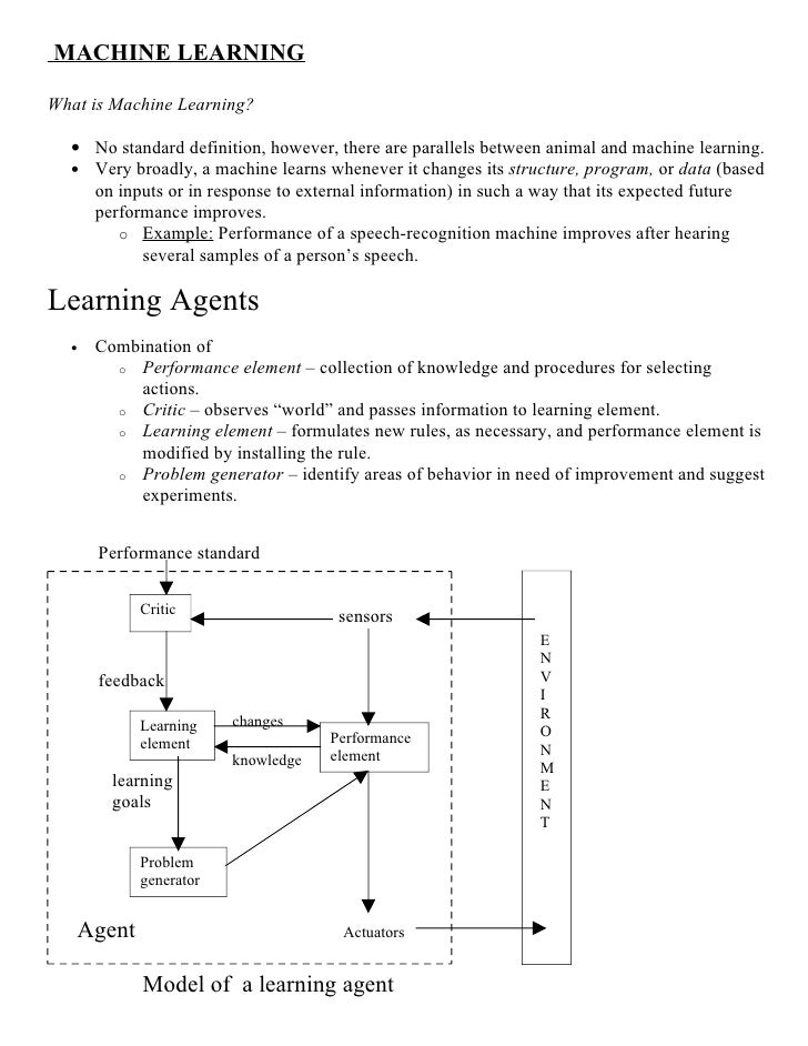 MACHINE LEARNING  What is Machine Learning?    • No standard definition, however, there are parallels between animal and m...