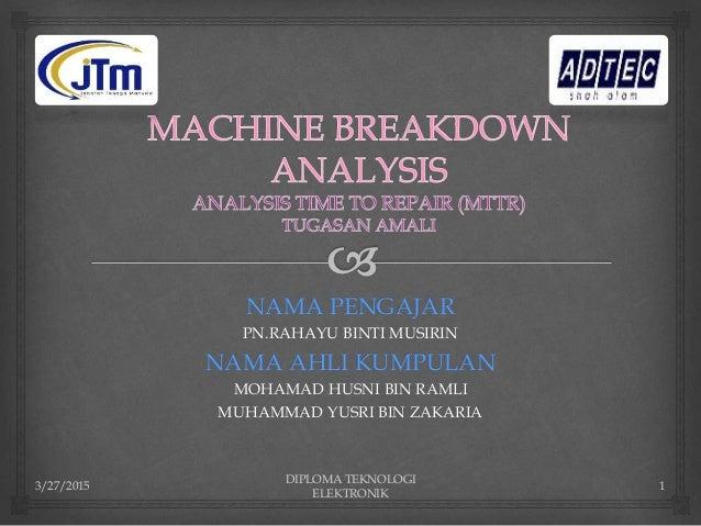 machine breakdown