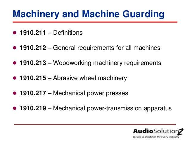 osha machine guarding