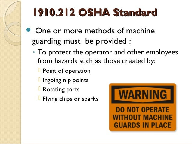 osha machine guarding checklist