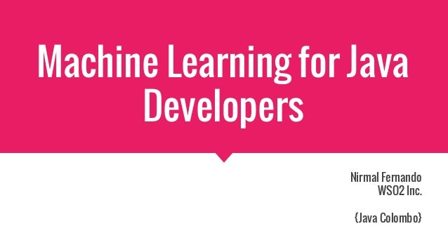 machine learning with java