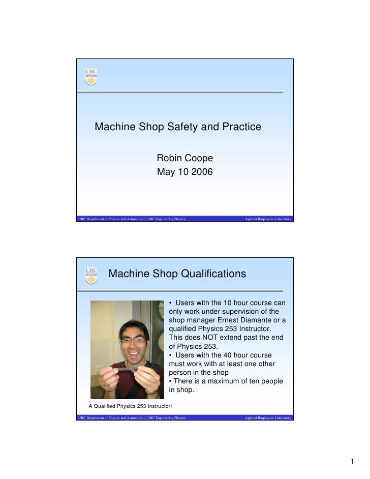 Machine Shop Safety and Practice                                                 Robin Coope                              ...