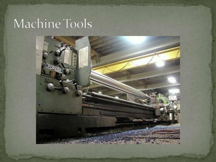 Machine Tools<br />