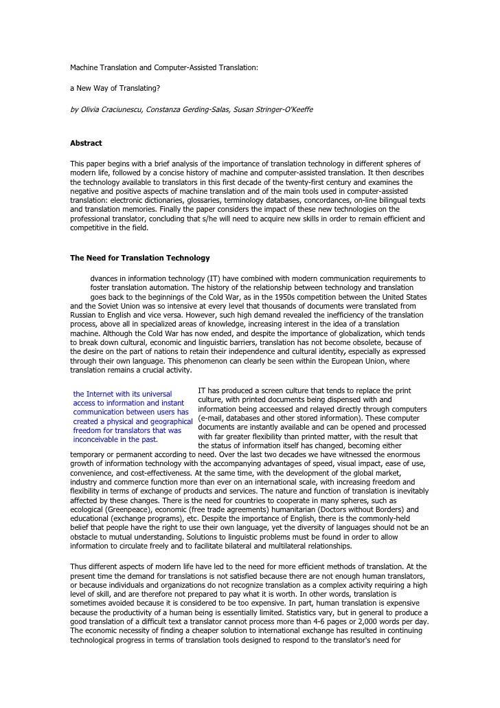Machine Translation And Computer