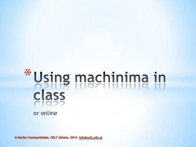 Machinima for language learning