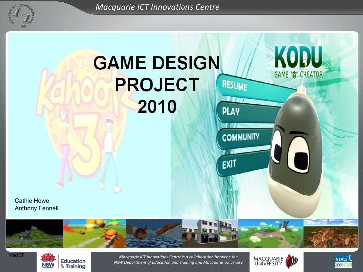 MacICT Game Design 2010: An Overview
