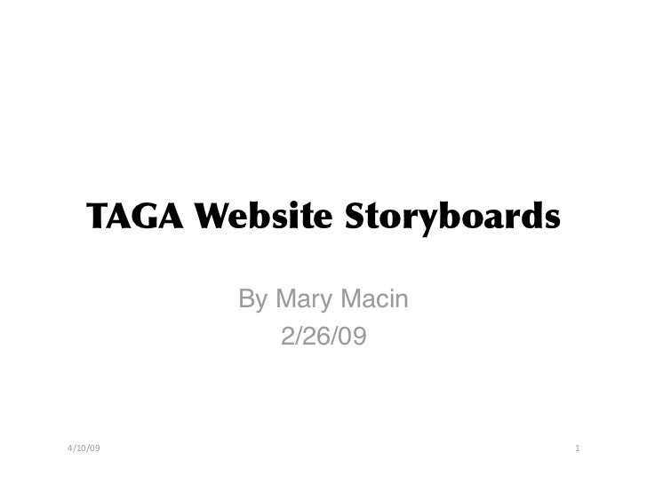 Early Attempt at Website Storyboards (Storyboarding)