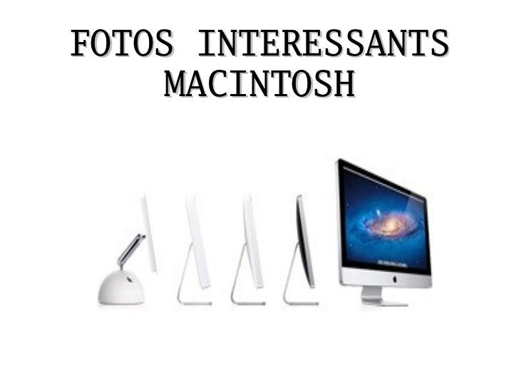 FOTOS INTERESSANTS    MACINTOSH