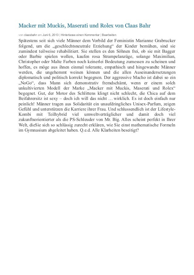 Macker mit Muckis, Maserati und Rolex von Claas Bahr von claasbahr am Juni 6, 2013 | Hinterlasse einen Kommentar | Bearbei...