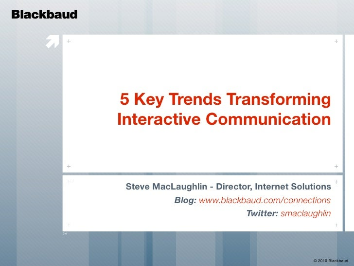 5 Trends Transforming Interactive Communication