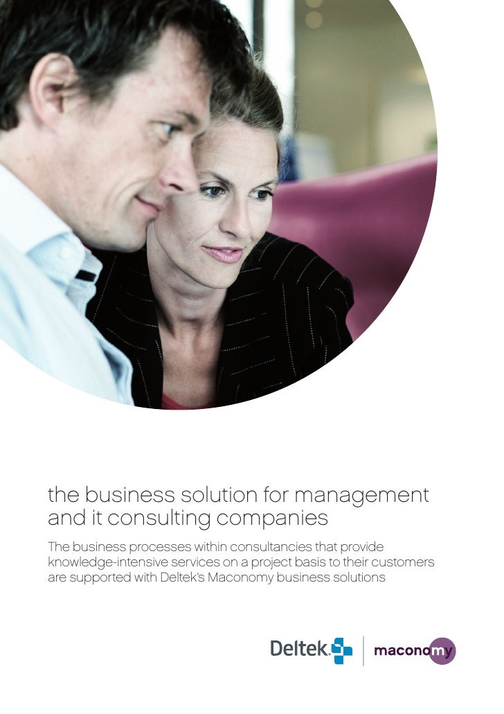 Maconomy Management It Consulting Brochure