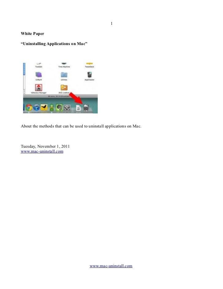 Uninstalling Applications on Mac OS