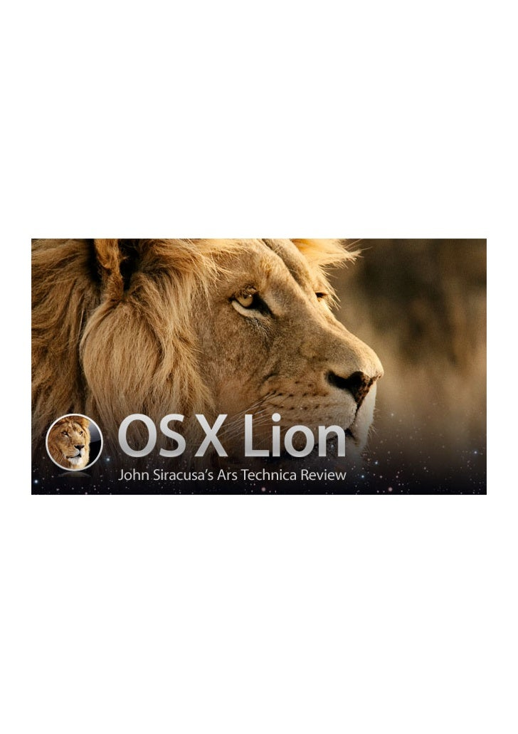 Mac OS X Lion - John Siracusa's Ars Technica Review