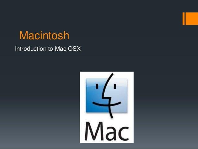 Mac osx basics