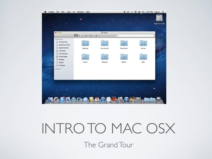 INTRO TO MAC OSX     The Grand Tour