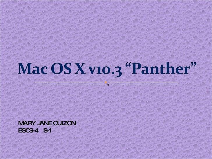 Mac  O S  X V10