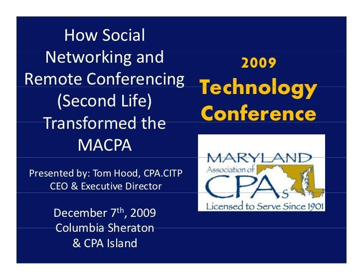HowSocial   Networkingand   N       ki      d       2009 RemoteConferencingg                       Technology     (S...