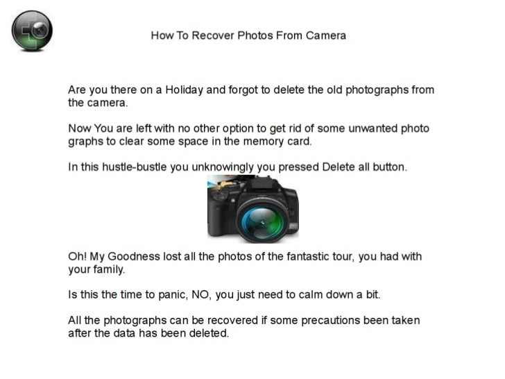 Mac photo recovery : How to Recover Deleted Photos From Camera