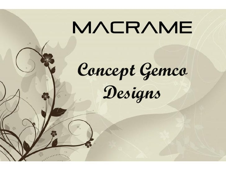 Free Powerpoint Templates Macrame  Concept Gemco Designs