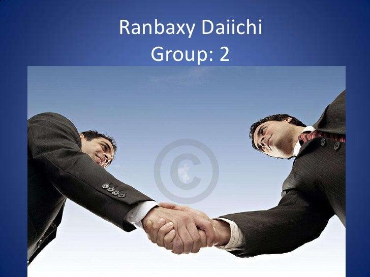 Ranbaxy DaiichiGroup: 2<br />
