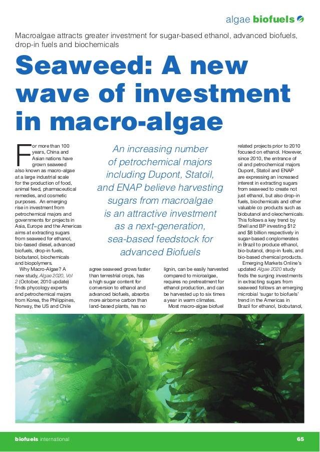 Macro Algae: New Waves of Investment from Algae 2020 www.emerging-markets.com