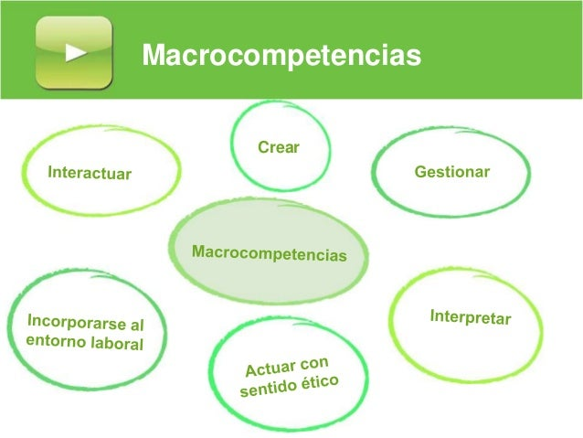 Macrocompetencias Crear