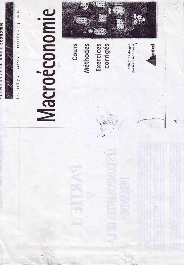 Macroéconomie  cours, méthodes et exercices corrigés .