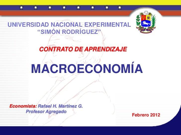 Macroeconomía.  03 de febrero de 2012