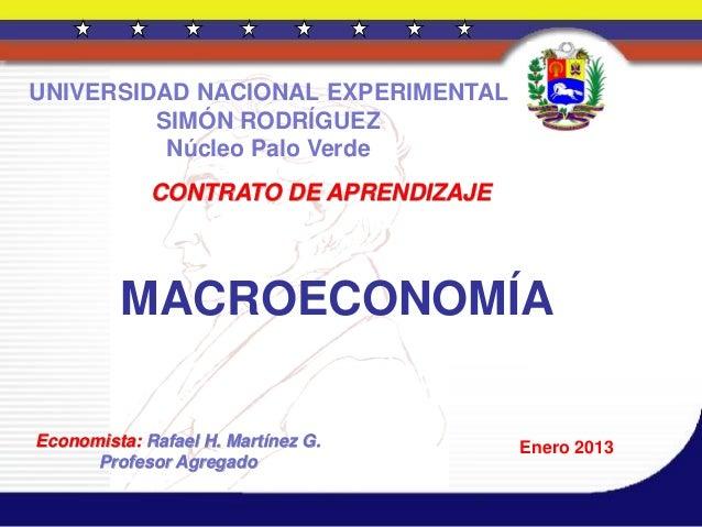 Macroeconomía.  2013