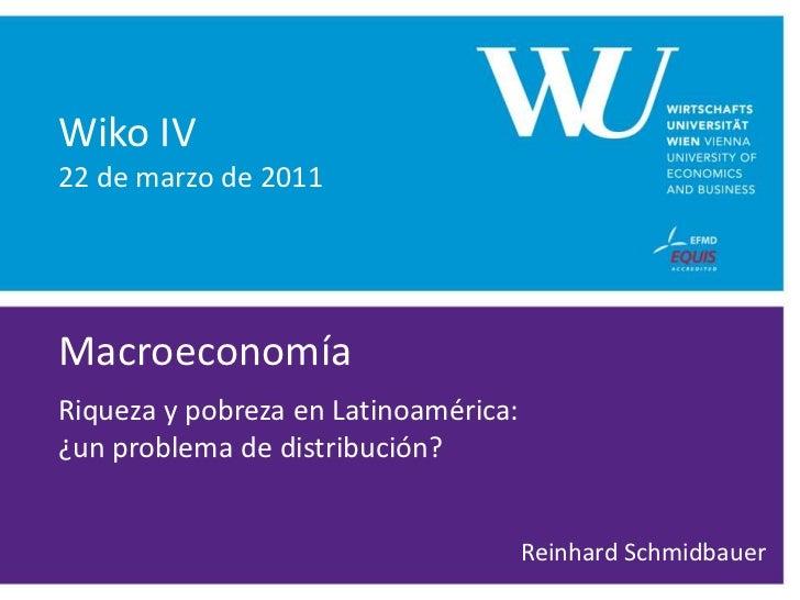 Macroeconomia: riqueza y pobreza en Latinoamerica