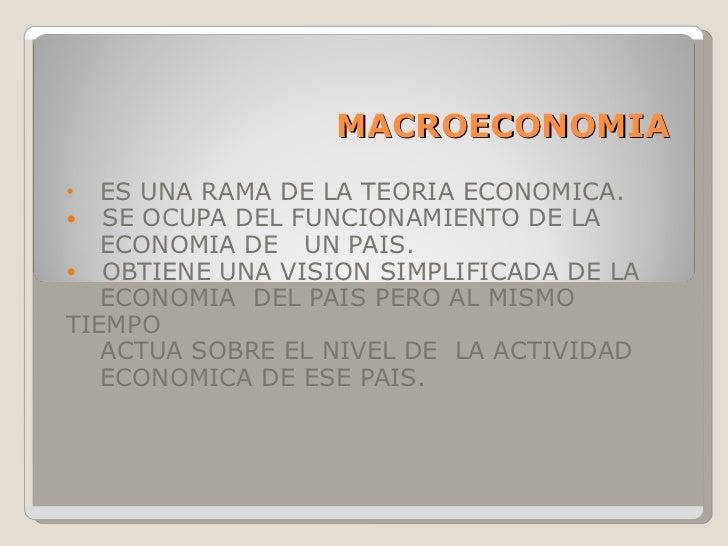 Macroeconomia presentacion