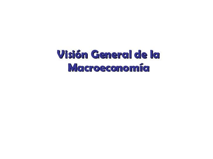 Visión General de la Macroeconomía