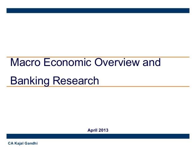 Macro Economic and Banking