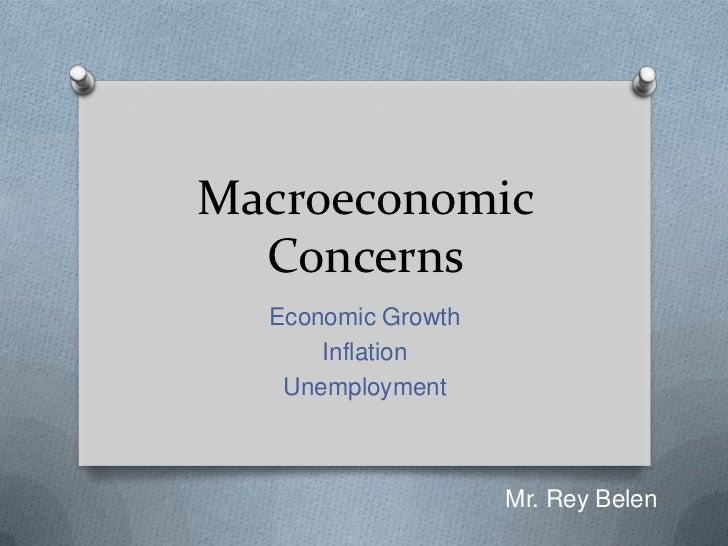 Macroeconomic concerns