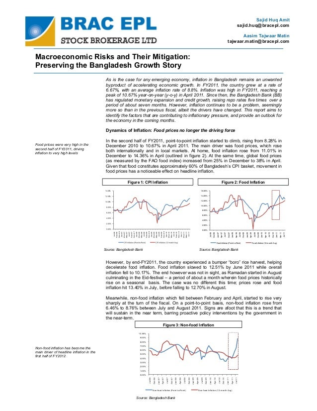 Macroeconomic risks and their mitigation : Preserving the Bangladesh growth story (October 16, 2011)
