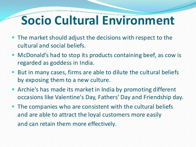 socio cultural environment of business