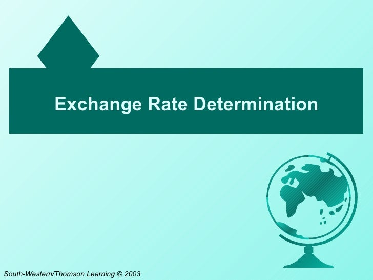 Exchange Rate DeterminationSouth-Western/Thomson Learning © 2003